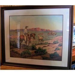 Framed Picture Western scene
