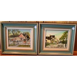 2 Framed Pictures by H. Haracove