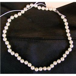 Tightly knotted Pearl necklace 16""