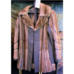 Ladies Mink and Leather Jacket