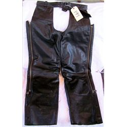 Pair Harley Davidson Leather Chaps size L