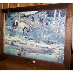 "Framed picture ""Indian Horse"" William Offman"