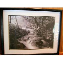 "Framed picture Winter scene - not signed 30"" X 24"""