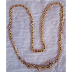 Necklace 14Kt Yellow Gold 19 1/2""