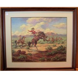 Framed picture - Cowboy, by Till Goodan