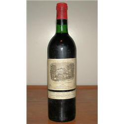 Bottle Chateau LaFite Rothschild wine, France
