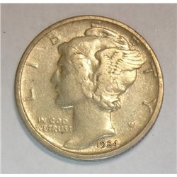 1924D Mercury dime  XF