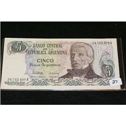 Argentina 5 Pesos Foreign Bank Note