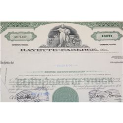 Rayette-Faberge Inc. Stock Certificate dated 1968