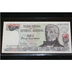 Argentina 10 Pesos Foreign Bank Note