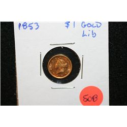 1853 Liberty $1 Gold Coin