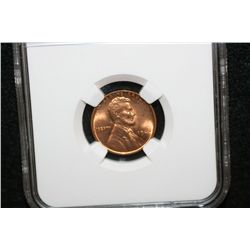 1942 Wheat Back Penny, NGC Graded MS65 RD