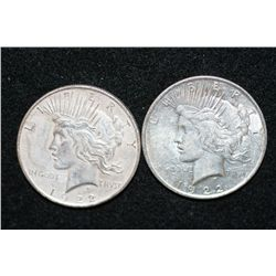 1922 & 1922-D Peace $1, lot of 2