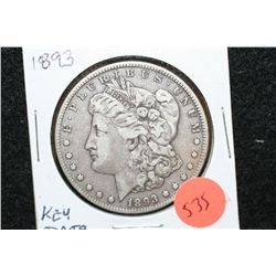1893 Silver Morgan $1, Key Date