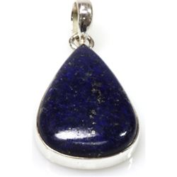 Natural 4.86g Lapis .925 Sterling Silver Pendant