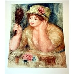 La Femme au Mirror- Renoir - Colored Etching