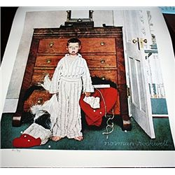 Norman Rockwell Limited Edition Limited Edition - Discovering Santa