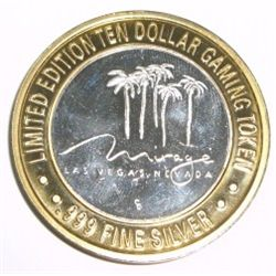 Casino  .999 SILVER STRIKE  $10 Coin *RARE TO FIND - MIRAGE - LAS VEGAS*!! The Limited Edition $10