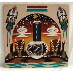 Navajo Sand Painting-Wallace &amp; Denise Watchman Jr.