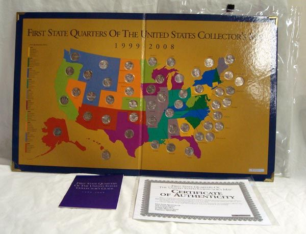 First State Quarters Of The US Map Collection - Us quarter collector map