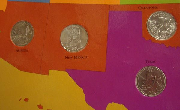 First State Quarters Of The US Map Collection - Us map for quarters
