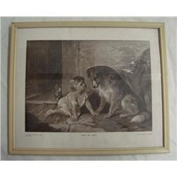 Antique Photographic Print, Child and Pets-Holmes