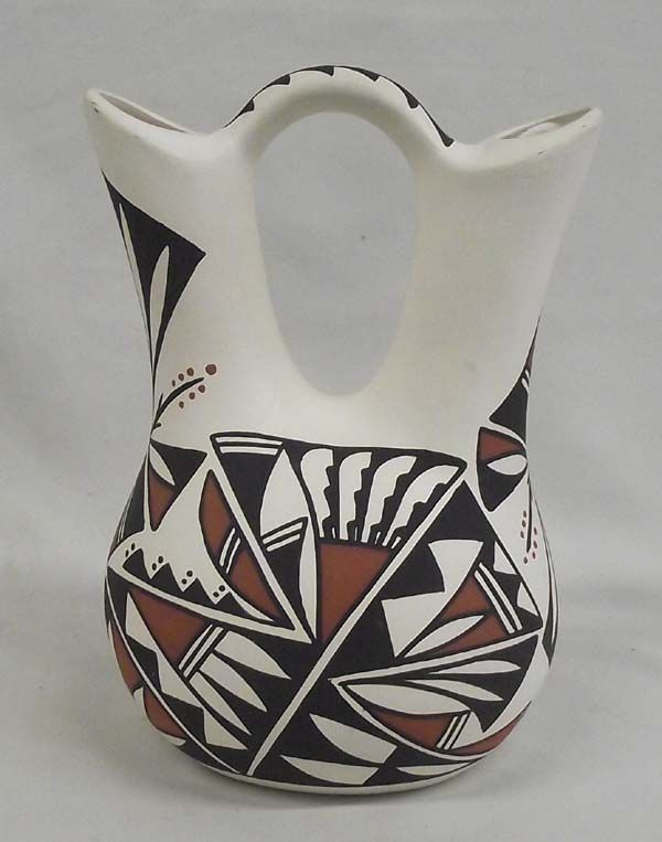 Acoma Hand Painted Wedding Vase Antonio