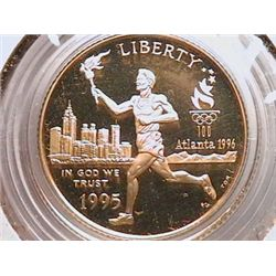 1996-W $5 Gold Olympic Gem Pf65 Cameo
