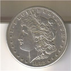 1883-S AU  MORGAN SILVER DOLLAR
