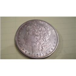 1883-S MORGAN SILVER DOLLAR, AU-53