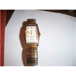 Lord Elgin 1930 Vintage Mens Wristwatch W/Gold Filled Case, Perfect Condition