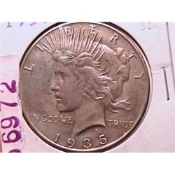 1935 Peace Dollar VF20