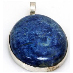 Natural 135.37 ctw Semi Precious .925 Sterling Pendant