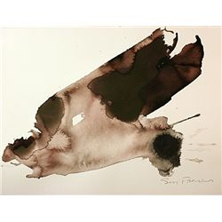 Original Sam Francis, Ink Drawing on paper -
