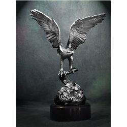 Original Fine Silver Sculpture - Eagle 15 by H. Scott