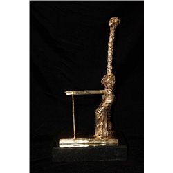 Dali Limited Edition 24K Gold Layered Bronze  Sculpture -Giraffe Woman With Drawers