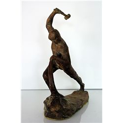 Evgeniy Vuchetich  Original, limited Edition  Bronze - Sword Into Plowshare