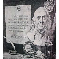 Franklin 1731 by Rockwell  Lithograph