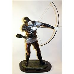 THE ARCHER - Bronze and Ivory Sculpture by Pierre-Nicolas Tourgueneff
