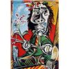 Image 1 : Limited Edition Picasso - Seated Man with A Sword and A Flower - Collection Domaine Picasso