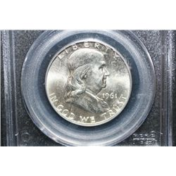 1961-D Ben Franklin Half Dollar, PCGS Graded MS64