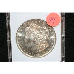 1881-S Silver Morgan $1, MCPCG Graded MS64