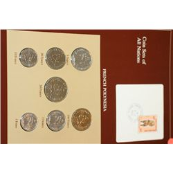 French Polynesia; Coin Sets of All Nations W/Stamp dated 1985