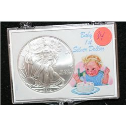 "2010 Silver Eagle $1, ""Baby's 1st Silver Dollar"""