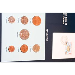 Mauritius; Coin Sets of All Nations W/Stamp dated 1986