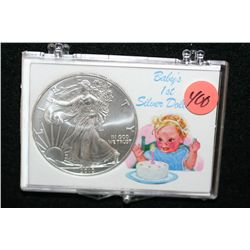 2010 Silver Eagle $1,  Baby's 1st Silver Dollar