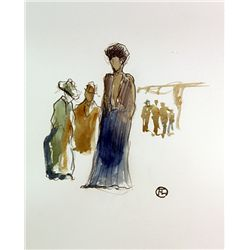 Toulouse Lautrec   Watercolor Painting.