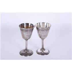 Pair of Unmarked Mexican Goblets