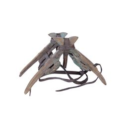 Mexican Green Primitive Wooden Saddle Tree