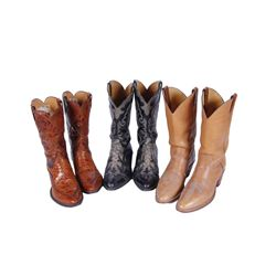 Collection of 3 Pair of Cowboy Boots